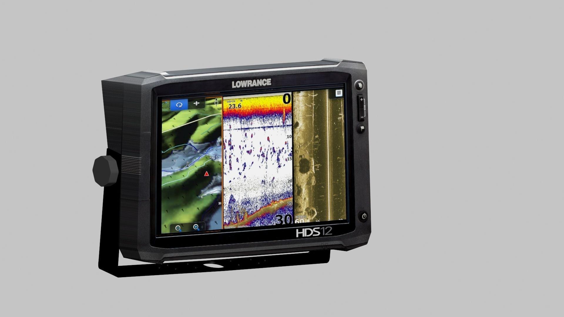 Lowrance fish finder 3d model max tga for Lowrance fish locators