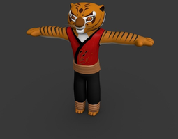 Tigeress-Kung Fu Panda  3D Model