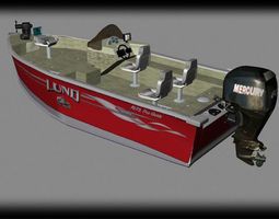 3D lund fishing boat