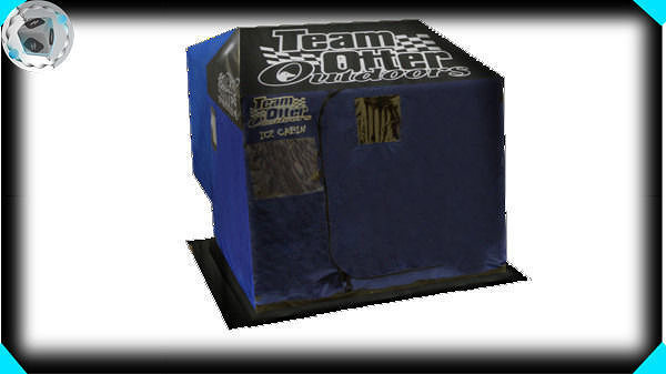 3d team otter blue house cgtrader for Otter fish houses