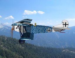 3D model Fokker DVII Toy Plane 2