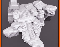 generic stone stairs basemesh set- 02   3d model