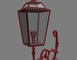 3d street lamp red