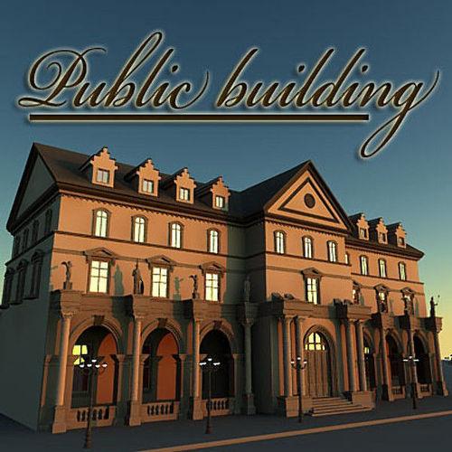 Public building3D model