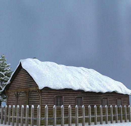 Snow house Scene3D model