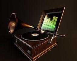 the gramophone  3D Model