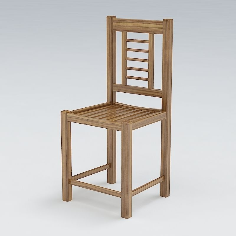 Wooden Chair 09 3d Model Max Obj 3ds Fbx Lwo Lw Lws