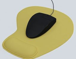 3D model Mouse and Mouse Pad