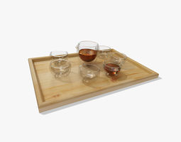 Glass Tea Set 3D