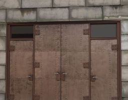 Back Alley Metal Door 3D Model