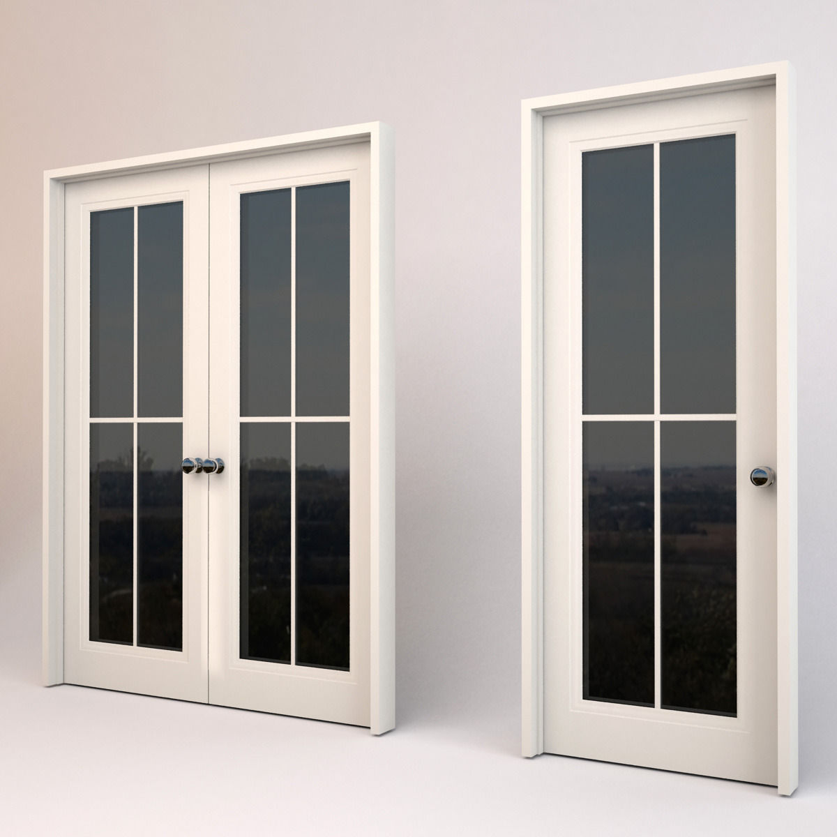 windows and doors 3d model max obj 3ds fbx c4d
