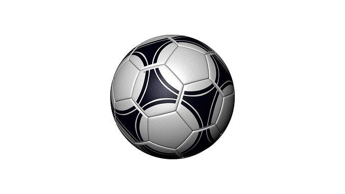 soccer ball 3d model max 1