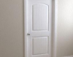 Door   2 Panel Roman 3D Model