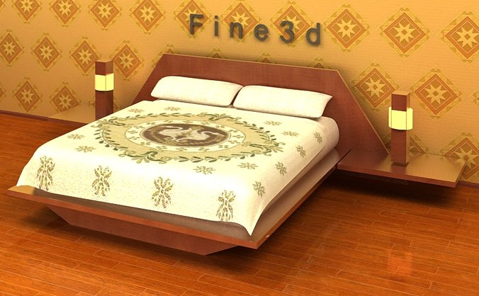 3d Model Bedroom Furniture 03 A026 Cgtrader
