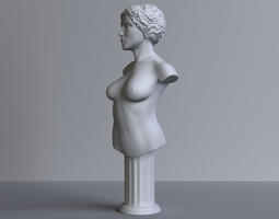 female-bust 3D printable model