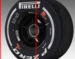 enkei medium front tyre 3D Model