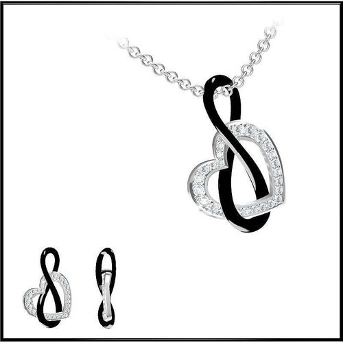 Infinity and Heart Shape Diamond Necklace3D model