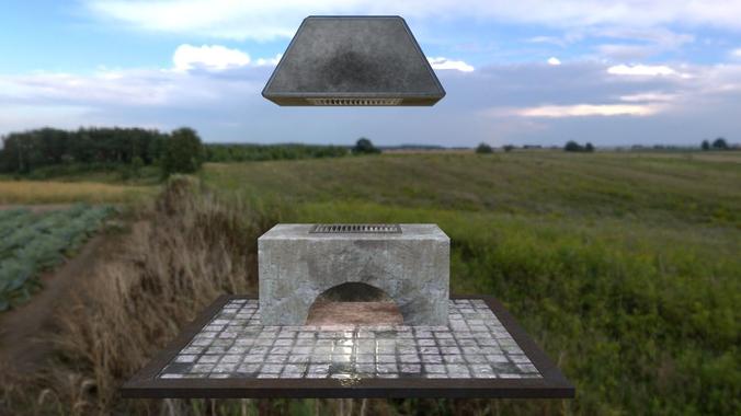 Stone oven3D model