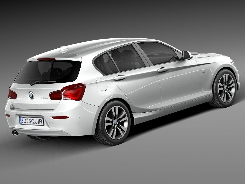 bmw 1 series 5door 2016 3d model max obj 3ds fbx c4d lwo lw lws. Black Bedroom Furniture Sets. Home Design Ideas