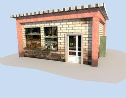low poly shop 3D Model