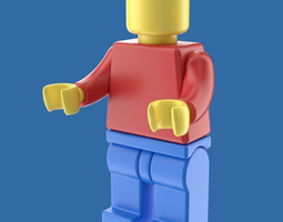 3d model lego toy figure