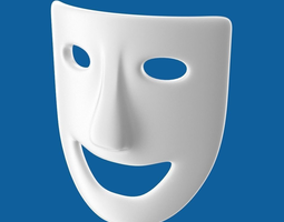 theatre play laughing mask 3d