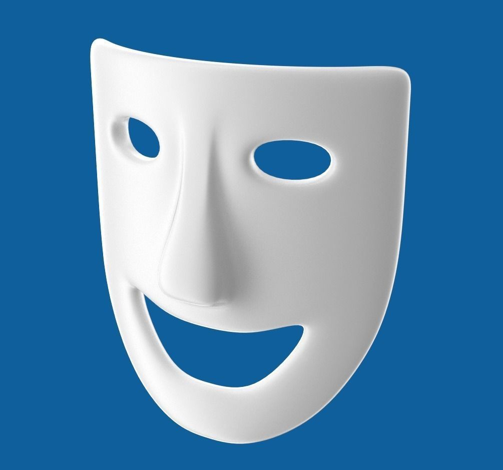 Theatre Play Laughing Mask 3D Model