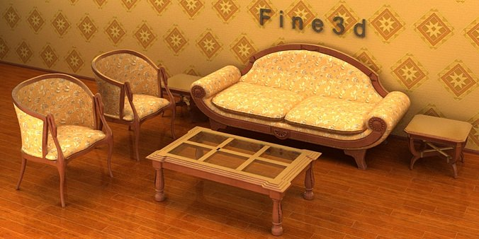 Living room set 04 combination sofa 013 3d cgtrader for New model living room furniture