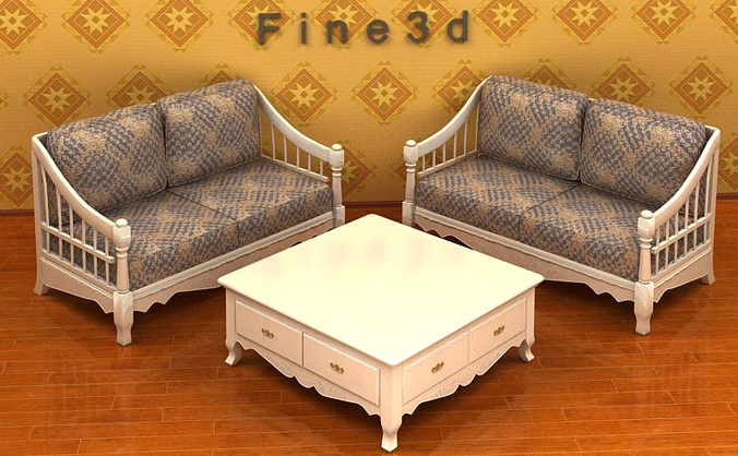 Living room furniture 04 combination sofa 021 3d model obj 3ds for New model living room furniture