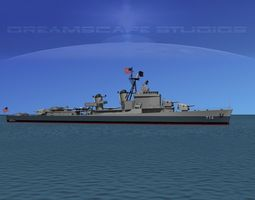 Gearing Class Destroyer DDR-714 William R Rush 3D Model