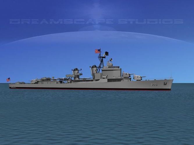 Gearing Class Destroyer DDR-806 USS Higbee3D model