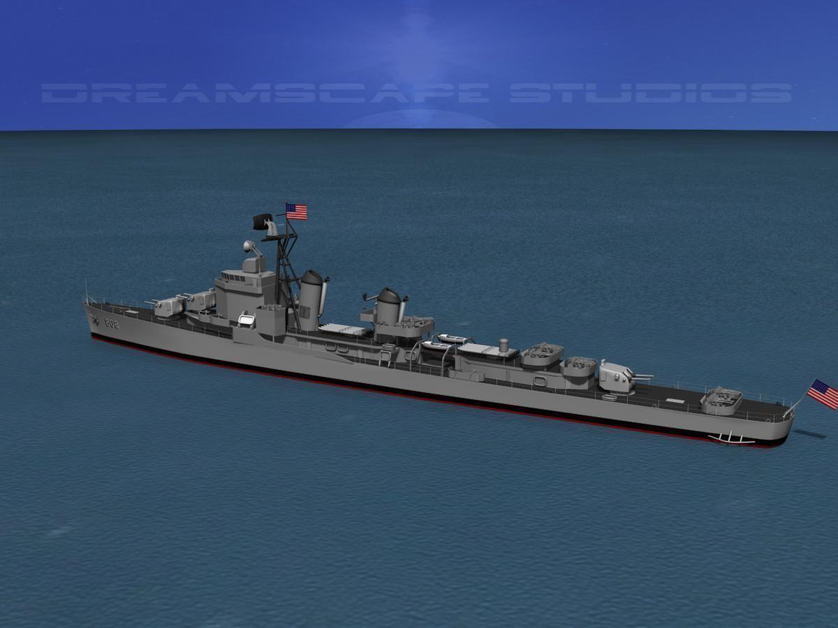 Gearing Class Destroyer DDR-808 USS Dennis J Buckley