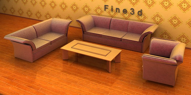 Living room furniture 04 combination sofa 025 3d model for New model living room furniture
