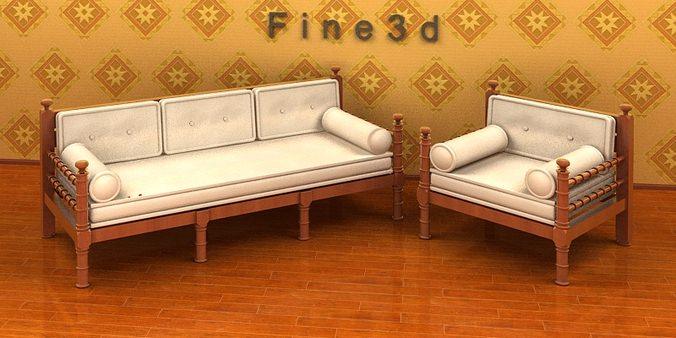 Living room furniture 04 combination sofa 026 3d model obj 3ds for Aleso3d interior 026 lounge room