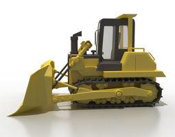 3D model Cartoon bulldozer