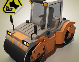 Cartoon RoadRoller 3D Model