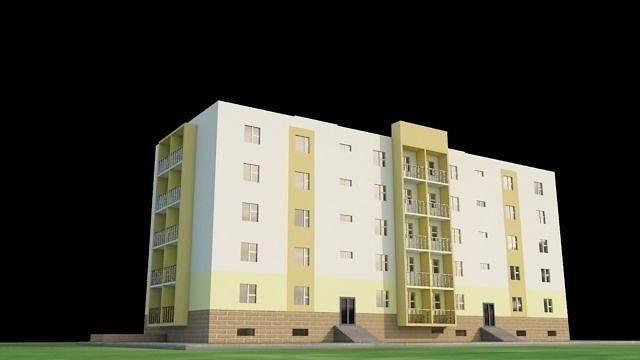 apartment 3d model low-poly max obj 3ds fbx dxf tga 1