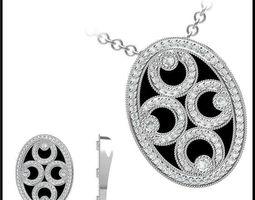 3d model diamond necklace 81