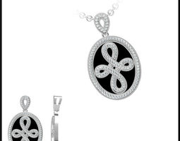 diamond necklace 86 3d model