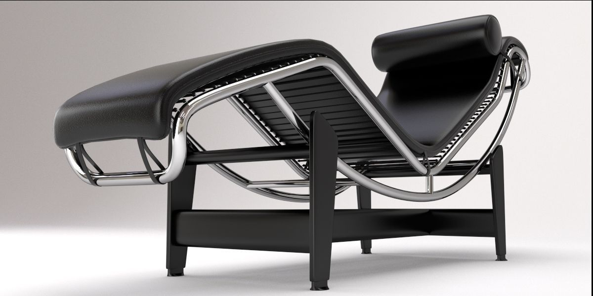 lc4 chaise lounge design by le corbusier 3d model blend 7