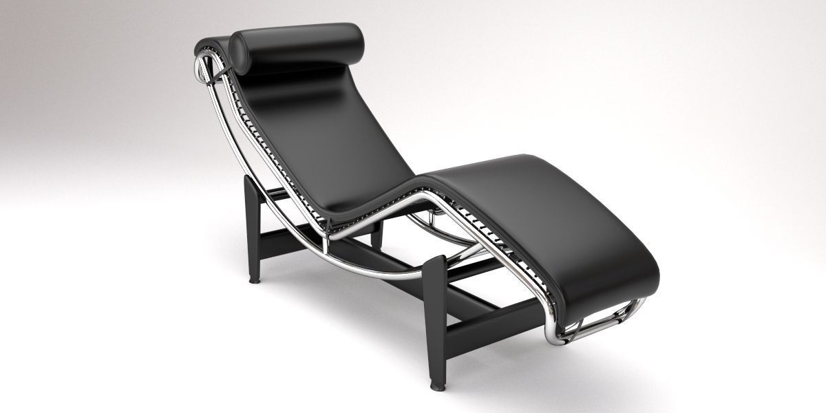 3d Model Lc4 Chaise Lounge Design By Le Corbusier