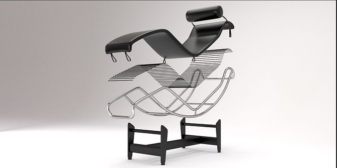 LC4 Chaise Lounge design by Le Corbusier 3D model BLEND on chaise furniture, chaise recliner chair, chaise sofa sleeper,