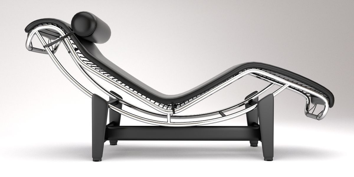 Lc4 chaise lounge design by le corbusier 3d model blend for Chaise longue le corbusier cad