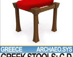 greek stools set c d 3d model obj 3ds c4d vue
