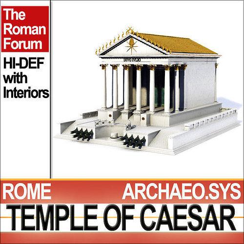 temple of julius caesar huelsen type 3d model obj 3ds c4d vue mat 1