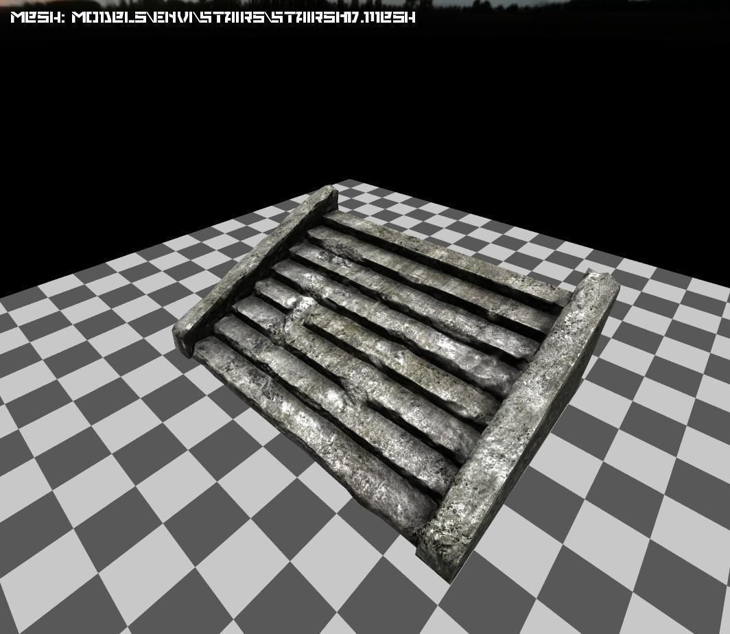 ... Stone Staircase 3d Model Low Poly Max Obj 3ds X Mtl Tga 6 ...