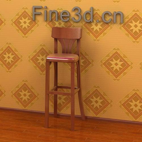 Bar Stool Chair 09om 0303D model