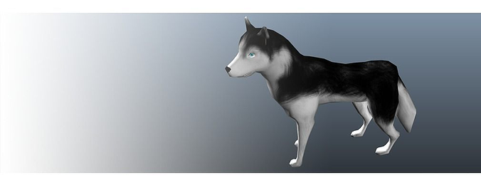 dog animation 3d model low-poly animated fbx 1