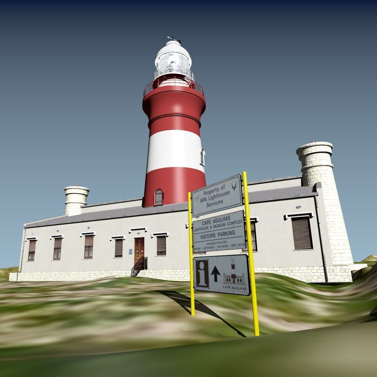 Cape Aghulas Lighthouse 3D Model