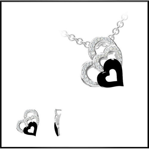 Heart Shape Diamond Necklace 53D model